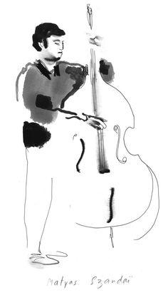 double bass ink Naissam Jala Quintet