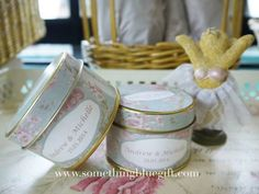 Project by Something Blue Gift http://www.bridestory.com/something-blue-gift/projects/candy-jars-tins