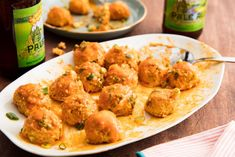 Potato croquettes and minced meat - Clean Eating Snacks Buffalo Chicken Meatballs, Buffalo Chicken Recipes, Asian Meatballs, Chicken Dips, Clean Eating Snacks, Healthy Snacks, Healthy Recipes, Healthy Eats, Delicious Recipes
