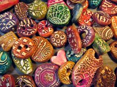 Set of 10 Colorful Polymer Clay Random Component Assortment Pendants, Earrings, Beads, Buttons by SpontaneousSoul on Etsy https://www.etsy.com/listing/223395161/set-of-10-colorful-polymer-clay-random