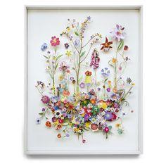 168 vind-ik-leuks, 1 reacties - Anne ten Donkelaar (@annetendonkelaar) op Instagram: 'Flower construction #57 (w:80 h:100 d:6.5 cm) #flowers #flowerconstruction #framedartwork #collage…'