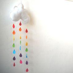 Regenboog regendruppels Cloud Mobile een Funky door therainbowroom