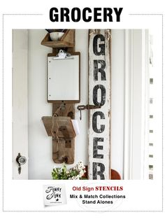 Bring a little old town history charm into your own kitchen with this GROCERY design!GROCERY letters are big and bold, just like advertising signs hand painted back in the day. Striking from a distance, and equally charming up close.Stencil horizontally as designed, or try stencilling vertically, one letter at a time as shown in the picture!- - - - -All stencils are made from durable 10mil, complete with centre registration marks, and some underlined engraving under ...