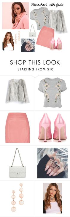 """""""Photoshoot with Jade"""" by dancegirl729 on Polyvore featuring Chicwish, Topshop, River Island, Miu Miu, Chanel and Rebecca Minkoff"""