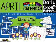 This word of the day calendar is now EDITABLE which makes this a lifetime calendar! You can edit the numbers and years, so you will be able to put the words in any order you like. Words will stay the same to retain continuity between the rest of our Word of the Day products. This calendar incorporates both Math and ELA. Each day has an April vocabulary word in addition to a pattern. We have also added an interactive cut and paste student calendar. There is also a teacher guide.