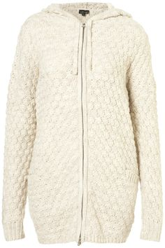 Knitted Chunky Hoodie Coatigan - Topshop / paired with skinny jeans (or leggings) and ankle boots and you have the perfect comfy fall outfit