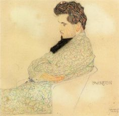 Egon Schiele, Portrait of the Composer Arthur Lowenstein, 1909