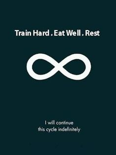 Fitness Motivational Quotes Train Hard. Eat Well, Rest