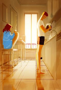 Kitchen stories #pascalcampionart  This one will be a tutorial in the book...just finished the step by step of it. If I can, I'll make it a gif and post it as well