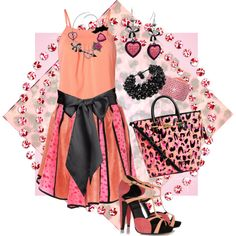 """Peach and Pink"" by jlg8503 on Polyvore"