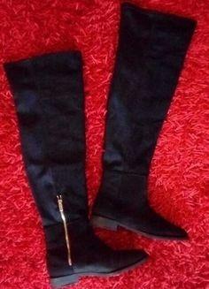 Kup mój przedmiot na #vintedpl http://www.vinted.pl/damskie-obuwie/kozaki/15978069-zamszowe-kozaki-za-kolano-stradivarius-38-czarne