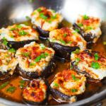 Bacon and Cheese Stuffed Mushrooms – delicious, homemade bite-sized mini-appetizers loved by adults and...