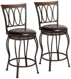 Add stylish seating to a kitchen counter space with this swivel counter stool se. Add stylish seating to a kitchen counter space with this swivel counter stool set of two. Each chair comes with hammered bronze finish over its metal frame. Retro Bar Stools, Rustic Bar Stools, Tall Bar Stools, Farmhouse Stools, Bar Stools With Backs, Stools For Kitchen Island, Outdoor Bar Stools, Counter Height Bar Stools, Swivel Bar Stools