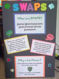 Girl Scouts SWAPS - What are SWAPS?  I made this for our in-school recruitment night last year.  Our girls hosted a Lei Flower SWAPS craft for all of the girls who attended.  :)  <3  ~DG