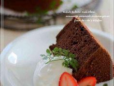 ♥絶品・ふわふわココアシフォンケーキ♥の画像