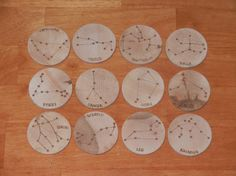 Monedas de madera constelación por FromJennifer en Etsy