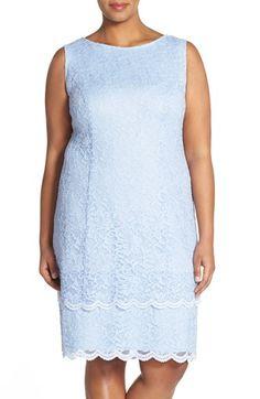 Alex Evenings Tiered Lace Jacket Dress (Plus Size)