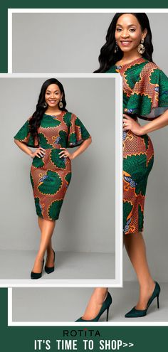 Go for Ethnic glam in this print-inspired Round Neck Multi Color Ethnic Print Dress. Details on the sleeves will make you stand out in this elegant party dress. Couples African Outfits, African Dresses For Kids, Latest African Fashion Dresses, African Dresses For Women, African Print Fashion, African Attire, Latest Dress For Women, Elegant Dresses For Women, African Print Skirt