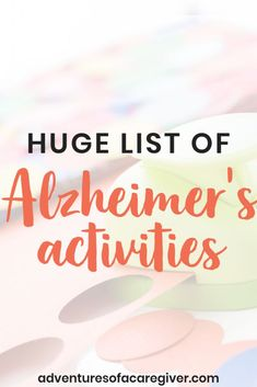 Caregiver recommended activities to keep dementia patients busy and engaged. caregiver Stimulating Activities for Alzheimer's & Dementia Patients Activities For Dementia Patients, Alzheimers Activities, Elderly Activities, Senior Activities, Dementia Care, Alzheimer's And Dementia, Work Activities, Outdoor Activities, Spring Activities