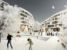 Article source: BIG architects BIG UNVEILS A SKI RESORT IN LAPLAND BIG wins an invited competition for a 47.000 m2 ski resort and recreational area in Levi. The future Ski Village will transform th…