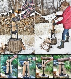 Homesteading Kindling Firewood Splitter Tool Homesteading - The Homestead Survival .Com