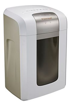 Bonsaii EverShred Pro 3S23 Heavy duty 14Sheet CrossCut PaperCDCredit Card Shredder 6 Gallons Wastebasket with 4 Casters and 120 Minutes Running Time White *** Be sure to check out this awesome product-affiliate link. #PaperShreddersForOffices