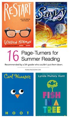 16 page turner books for kids' summer reading challenges. Add these to your library list right now and keep your kids inspired to read all summer long. Best Books List, Book Lists, Good Books, Books To Read, Reading Lists, Book Club Parties, Books For Tweens, Summer Kids, Summer School