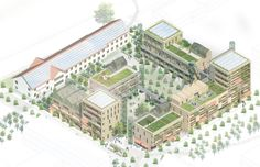 kjellander sjoberg, sege park axo high density, mixed use/supermix Site Analysis Architecture, Architecture Drawings, Architecture Portfolio, Architecture Diagrams, Sustainable Architecture, Residential Architecture, Landscape Architecture, Concept Architecture, Architecture Design