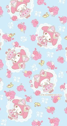 Find images and videos about cute, wallpaper and kawaii on We Heart It - the app to get lost in what you love. My Melody Wallpaper, Sanrio Wallpaper, Kawaii Wallpaper, Iphone Wallpaper, Melody Hello Kitty, Sanrio Hello Kitty, Hello Kitty Backgrounds, Hello Kitty Wallpaper, Sanrio Characters