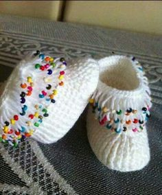 Baby Knitting Patterns Fun Crochet Baby Booties Free Patterns By Kamila Krawka: Cro. Knit Baby Shoes, Crochet Baby Boots, Crochet Slippers, Baby Knitting Patterns, Knitting Designs, Crochet Patterns, Crochet Cross, Knit Crochet, Baby Booties Free Pattern