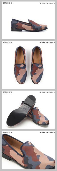 4b02882320a Duke   Dexter Blue   Brown Camouflage Loafers  Blending a unique  combination of tough camouflage