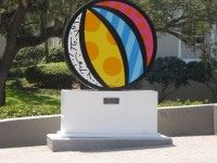 """Romero Britto's """"Beach Ball"""" sculpture, Museum of Art and Science (Tallahassee, Florida) and Salvador Airport (Bahia, Brazil)  Recife Airport, Brazil  Florida House, Washington DC. Learn more about Romero Britto and Florida (The Sunshine State) at: www.floridanest.com"""
