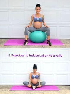 6 Exercises to induce labor naturally via Pregnancy First, Pregnancy Trimesters Yoga Prenatal, Prenatal Workout, Mommy Workout, Third Trimester Workout, Pregnancy Workout Videos, 2nd Trimester, Pregnancy Labor, Pregnancy Health, Childbirth Education