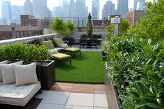 NYC Garden Portfolio - contemporary - patio - new york - Jeffrey Erb Landscape Design....cool roof top garden