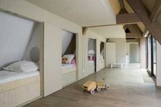 Ex-interiors Odette Ex shared bedroom Kid Beds, Bunk Beds, Jaco, Dream Rooms, Kidsroom, Nook, Beautiful Homes, Toddler Bed, Architecture