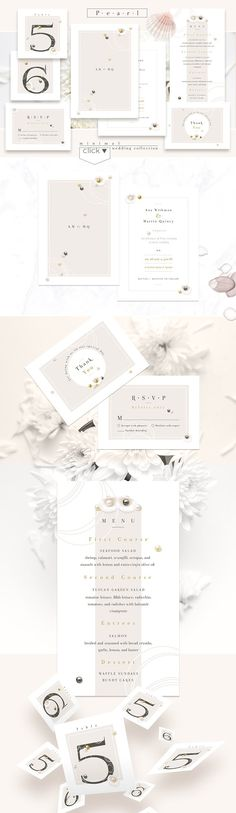 Pearl-minimal wedding collection by Polar Vectors on @creativemarket