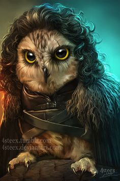 Game of Owls - Jon Snowl by 4steex.deviantart.com on @DeviantArt