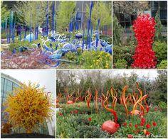 Les magnifiques statues de verre de Chihuly Garden and Glass - Seattle
