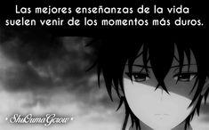 Las mejores enseñanzas #ShuOumaGcrow #Anime #Frases_anime #frases