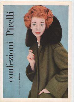 Pubblicità - Abbigliamento Donna Confezioni Pirelli - cm 30x20 ca - anno 1958