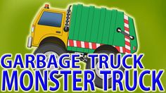 garbage monster truck | toy trucks compilation | cars and trucks for kid...