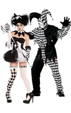 twisted jester couple costumes   Jester Couple Costume