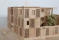 This invited competition for the new graduate accommodation of Churchill College Cambridge was inspired by historic precedents including 'Heraldic' iconography prevalent in many college gatehouse lodges. Architecture Models, Churchill, College, Inspiration, Home Decor, Biblical Inspiration, University, Room Decor, Model Building