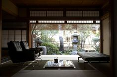 A Japanese Kyoto Ryokan with stunning architecture and Poul Kjærholm designs.
