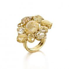 Ipanema rutilated yellow quartz ring by Nanis