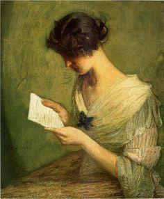 Mujer leyendo una carta siglo XIX - Buscar con Google