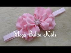 Amazing Ribbon Bow - Hand Embroidery Works - Ribbon Tricks & Easy Making Tutorial - Free Online Videos Best Movies TV shows - Faceclips Ribbon Flower Tutorial, Hair Bow Tutorial, Headband Tutorial, Diy Headband, Baby Headbands, Making Hair Bows, Diy Hair Bows, Diy Bow, Embroidery Works