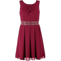 TFNC CECILE Cocktail dress / Party dress burgundy ($56) ❤ liked on Polyvore featuring dresses, bordeaux, purple sleeveless dress, sleeveless cocktail dress, purple dress, j.crew cocktail dresses and zipper dress