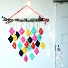 {DIY} Web ♥ du jour ou comment réaliser un joli calendrier de l'Avent graphique en découpant de simples losanges dans de la feutrine colorée
