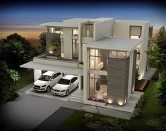 seiken contemporary designed luxury villas at calicut kerala floor plan 1959 sqft and 2300 sqft